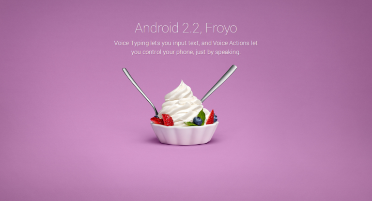 Android 2.2 Froyo (API 8)