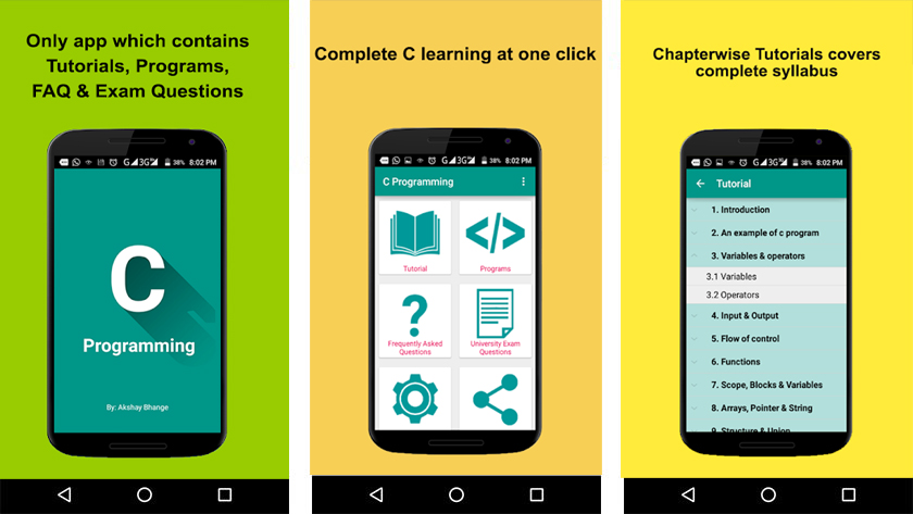 Best Android apps for learning Programming c programming