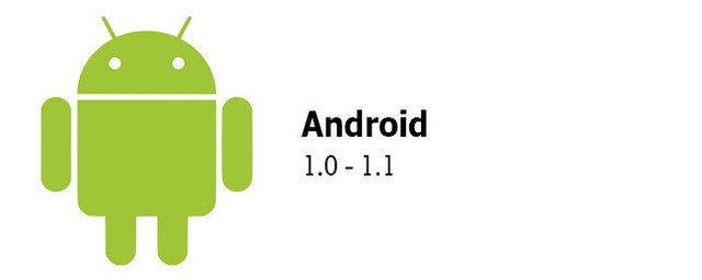 Android 1.0 and Android 1.1