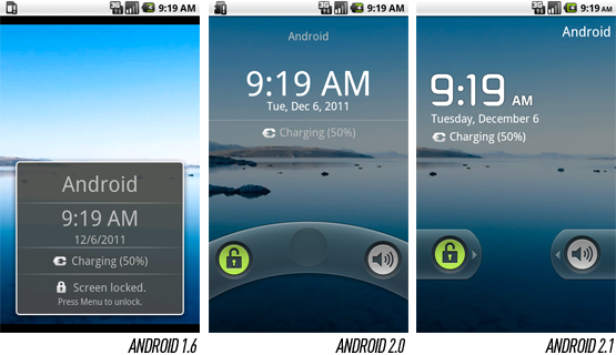 lock screen on Android 2.1