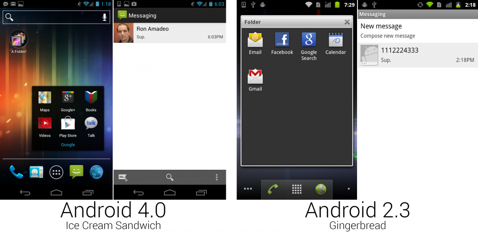 Android 4.0 message