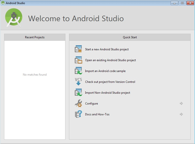 start android studio