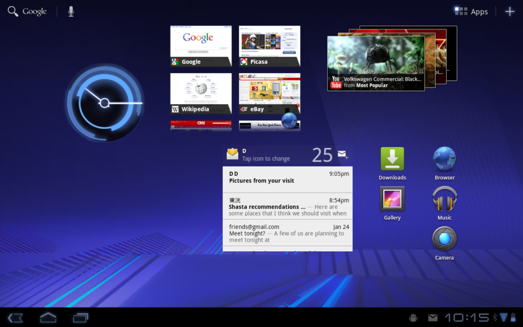 Android 3.0 ui for tablets